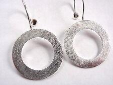 Circle Earrings 925 Sterling Silver Wire Back Corona Sun Jewelry