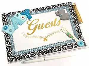 Elephant Boy Baby Shower Guest Book with pen Choose Jungle Animal Monkey