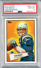 2010 Topps Tom Brady 1952 Bowman PSA 10