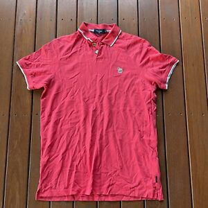Paul Smith Size XL Red Polo Cotton Collared Mens Casual