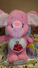 "MINT NIB Lotsa Heart Elephant 13"" Plush Care Bear Cousin with DVD 2016 Just Play"
