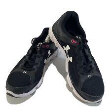 Under Armour Womens Micro G Assert 6 1266252-001 Black Running Shoes Size 8