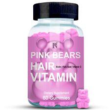 Pure Nutrition Plus Pink Bears Hair Vitamin Gummies For Hair & Skin Supplements