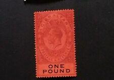 GIBRALTAR 1912 £1 SG 85  Sc 75 MLH