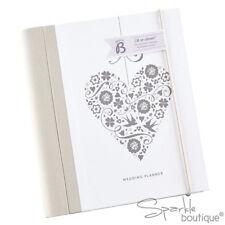 LUXURY HEART WEDDING PLANNER BOOK / Journal / Organiser - Great Engagement Gift!
