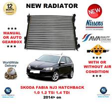 FOR SKODA FABIA NJ3 HATCHBACK 1.0 1.2 TSi 1.4 TDi 2014> NEW RADIATOR OE QUALITY