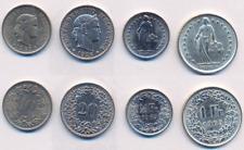 Münzen  Schweiz  10 R.  20 R.  1/2 Fr. + 1 Franken in Silber  siehe Bild
