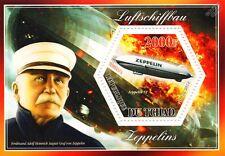 Ferdinand von Zeppelin / HINDENBURG Disaster / ZEPPELIN NT Airship Stamp