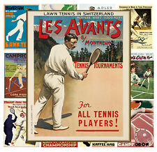 """Tennis Ads Vintage Sport Travel Advert MP583 13 pages 8/""""x11/""""//A4 Mini Posters"""