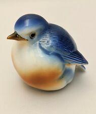 """Vintage Blue Bird Figurine Henriksen Imports 2.25"""" Tall"""