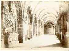 Espagne, Burgos Catedral, interior  Vintage albumen print Tirage albuminé  1
