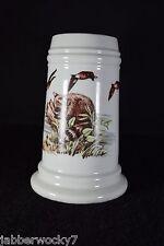 Gerold Porzellan German Stein - Raccoon & Ducks with Naked Lady Lithophane
