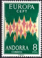 ZOR- 0052 ANDORRE SPAIN 1972 EUROPA N°64A MNH CV 135.00€ RARE RECHERCHE17