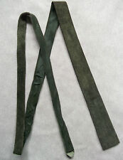 SLIM MOD REVIVAL FLAT END TIE SUEDE LEATHER SLIM JIM 1970s 1980s GREEN 4CM END