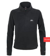 Trespass Shiner Half Zip Microfleece Black Size XS UK 8 LF089 KK 02