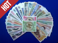 FREE SHIPPING! 30 Different PCS World Paper Money lOT, from 15 Countries UNC