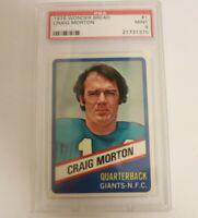 Craig Morton 1976 Wonder Bread Topps #1 PSA 9 MInt