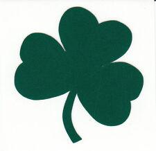 Reflective green Notre Dame Fighting Irish shamrock 1.75 inch fire helmet decal