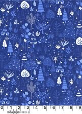 New Adventure Trees Blue Michael Miller Fabric FQ Half Metre More 100% Cotton