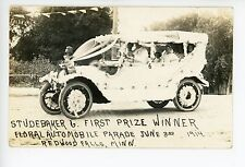 Prize-Winning Studebaker Car RPPC Floral Automobile Parade—Redwood Falls MN 1914