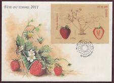 1er Jour FRANCE BLOC F4535 Fête du timbre Fraise, Fraisier 2012 FDC, strawberry