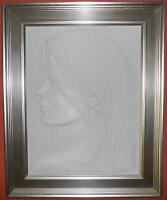 "BILL MACK  ""EDEN""  LIMITED EDITION NUMBERED BAS RELIEF BONDED CLAY SCULPTURE"