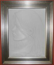 """BILL MACK  """"EDEN""""   LIMITED EDITION FRAMED BAS RELIEF BONDED CLAY SCULPTURE 2004"""