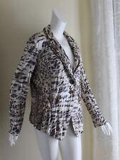 Alberto Makali Sz XL Funky Animal Printed Beaded WOW Crinkled Flirty Fun Jacket