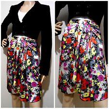 "ALANNAH HILL size 6 rrp $269 100% silk ""PETAL POWER"" SKIRT"" vivid floral pattern"