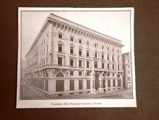 Trieste nel 1924 Il palazzo della Direzione Generale delle Assicurazioni R.A.S.