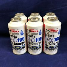 QTY 6: A/C PRO Air Conditioning R-134a Pag 100 Oil Charge W/ O-ring Conditioner