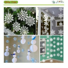 White Glitter Hanging Snowflake Christmas Decoration Frozen Party Tree Ornament