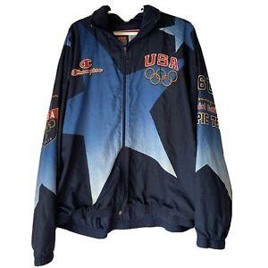 1996 ATLANTA OLYMPICS USA TEAM ALL OVER PRINT CHAMPION WINDBREAKER SZ XXL