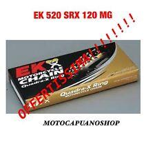 CATENA MOTO EK 520 SRX ALLEGGERITA ORO 520SRX 120 MAGLIE MG QUADRA X-RING ORING