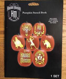 Disney Gemmy haunted mansion pumpkin stencil book