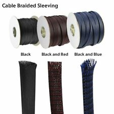 Nylon Synthetic Snakeskin Wire Hose Braiding Cable Organized Cords Conceal Cover