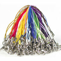 50 x Mixed Colors Cell Phone Lanyard Cords Strap Lariat Mobile Lobster Clasp