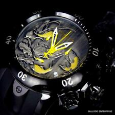 Mens Invicta Reserve Venom Koi Fish Swiss Black Silicone 52mm Yellow Watch New