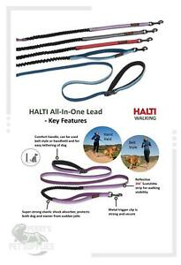 Halti All In One Lead Shock Absorber Dog Lead ALL COLOURS AND SIZES