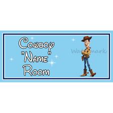Personnalisé Cowboy Enfants Chambre à Coucher Porte Signe – Disney Toy Story Woody