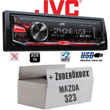 JVC Autoradio für Mazda 323 Einbausatz MP3 USB Einbauset Auto Radio 12V KFZ PKW