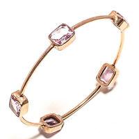 Kunzite Copper Plated Cuff Gemstone 925 Sterling Silver Jewellery Bangle