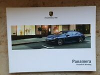 Porsche Panamera Wartungsheft Scheckheft Garantiewartung Checkheft