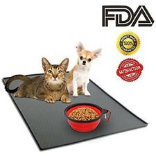 Pet Dog Cat Feeding Mat Silicone Waterproof Food Water Dish Bowl Placemat GS