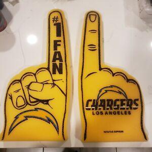 NFL Los Angeles Chargers Foam Finger #1 Fan, NEW (2 fingers)