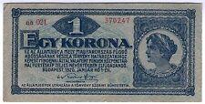 **   UNGARN     1  korona   1920   p-57    TTB- / FF   **