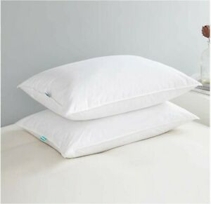 Pillows for Sleeping,100% Cotton Cover,Set of 2 Packing,King Size,F