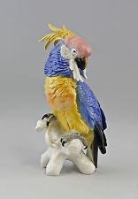 Figurines En Porcelaine Oiseaux Perroquet Cacatoès Ens H18cm 9997922