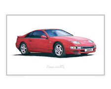 Nissan 300ZX Twin Turbo - Limited Edition Classic Car Print Poster by Steve Dunn