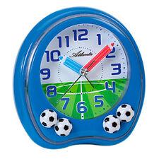 Atlanta 1719/5 Wecker Kinderwecker Fußball blau Fußballwecker für Kinder